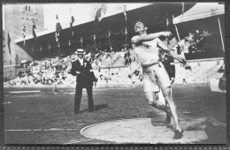 1912 Sweden Stockholm Olympics RP Official Postcard 209 - Magnusson, Sweden, Discus Bronze - Olympic Games