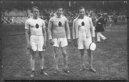 1912 Sweden Stockholm Olympics RP Official Postcard 136 - Finland Javelin Peltonen, Saaristo & Sukaniomi - Olympic Games