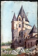 AQUARELLE 193 X 280 Mm, ARTISTE: MATHILDE CAUDEL DIDIER ( BENEZIT ), VITRE, ( ILLE ET VILLAINE ), 1907 - Aquarelles