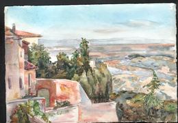 AQUARELLE 193 X 280 Mm, ARTISTE: MATHILDE CAUDEL DIDIER ( BENEZIT ), MONTEPULCIANO ( ITALIE ),1904 - Aquarelles