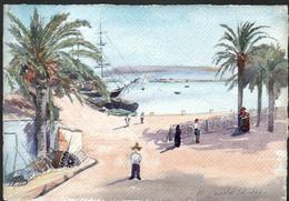 AQUARELLE 193 X 280 Mm, ARTISTE: MATHILDE CAUDEL DIDIER ( BENEZIT ), ALICANTE ( ESPAGNE ),1905 - Aquarelles