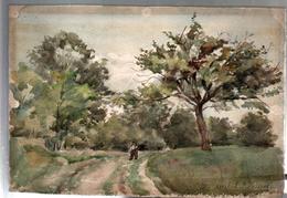 AQUARELLE 193 X 280 Mm, ARTISTE: MATHILDE CAUDEL DIDIER ( BENEZIT ), LOZERE,1903 - Aquarelles