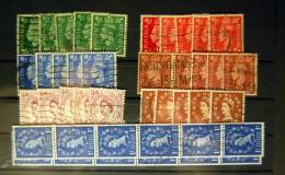 Great Britain - Georges VI & Elizabeth II Stamps (42 Stamps) - Used Stamps