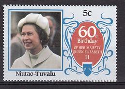TUVALU - NIUTAO - 60 Eme Anniv Reine Elisabeth II   - N** - Tuvalu