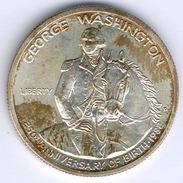 "USA Half Dollar 1982 ""George Washington"" 12,5g 900er Silber KM#208 Etwas Angelaufen, Vz+ Fast Vz/st - Émissions Fédérales"