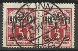 Estland Estonia 1928 Michel 69 In Pair O TALLINN - Estonia