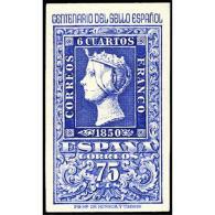 ES1076STV-LFT***1076STCFR.España.Spain. CENTENARIO DEL 1º SELLO ESPAÑOL.Isabel Ll .1950. (Ed 1076**) Sin Charnela - Familias Reales