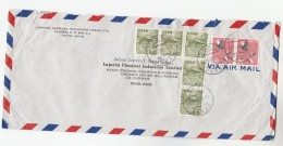 1966 Air Mail  JAPAN COVER Franked  7 X STAMPS  From  Imperial Chemical Industries Ltd To GB Bird Birds - 1926-89 Emperor Hirohito (Showa Era)