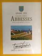 2034 - Suisse Vaud Clos Des Abbesses Cave Des 3 Soleils - Etiquettes