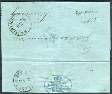 1860(?) Denmark Slesv. Skjelskjor Entire 'Skjelskor Kjobstad Og Vesterflakkebjerg Herreo' - 1851-63 (Frederik VII)