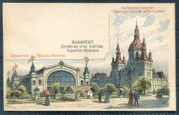 Hungary Postal Stationery Postcard, Budapest Exposition, Palais Des Machines