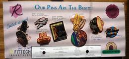 Carte Collector De La Fabrique Des 9 Pins De Qualité Différentes Voir Photo - Pin's