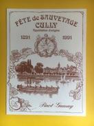 2042 - Suisse Vaud Fête De Sauvetage Cully 1891 - 1991 Pinot-Gamay - Bateaux à Voile & Voiliers
