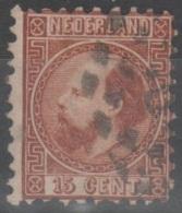 Paesi Bassi 1867 - 15 C. II T. Dent. 10 1/2 - Used Stamps