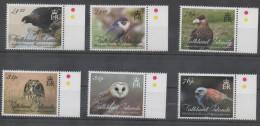 FALKLAND ISLANDS ,2016, BIRDS, BIRDS OF PREY, OWLS, FALCONS, BUZZARDS, 8v - Eagles & Birds Of Prey