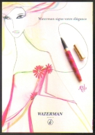 """Carte Postale édition """"Carte à Pub"""" - Stylo Waterman Audace (résolution Pour 2004) - Pubblicitari"""