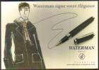 """Carte Postale édition """"Carte à Pub"""" - Waterman Signe Votre élégance (stylo Plume) - Pubblicitari"""