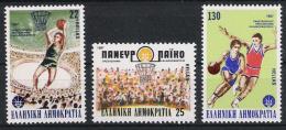 Griechenland Greece 1987 Mi# 1653-55 ** MNH Sport Basketball - Basketball