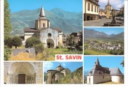 Saint-Savin-en-Lavedan (Argelès-Gazost-Hautes Pyrénées)-Multivues-L´Eglise Abbatiale-vues Du Village-Fontaine - Argeles Gazost