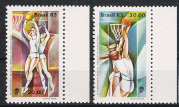 Brasilien Brasilia 1983 Mi# 1974-75 ** MNH Sport Basketball - Basketball