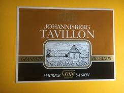 2066 - Suisse Valais Johannisberg Tavillon - Etiquettes