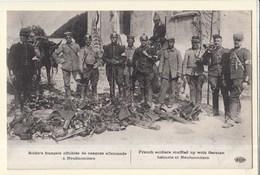 Militaria Guerre 1914 Soldats Affublés De Casque à Neufmontiers - Guerre 1914-18