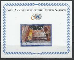 """UN-New York. Scott # 875  MNH S/sheet. """" 60th. Anniv. Of UN """" Hard To Find. Slania 2005 - New-York - Siège De L'ONU"""