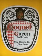 2078 - Suisse Valais Goron Coquet - Etiquettes