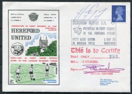 1973 GB Hereford United Football Cover V Blackburn Rovers. SIGNED Harry Gregory (Orient, Charlton, Aston Villa) - 1952-.... (Elizabeth II)