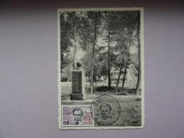 CARTE MAXIMUM CARD MONUMENT ET MAISON VERHAEREN AVEC OSI - Cartoline Maximum