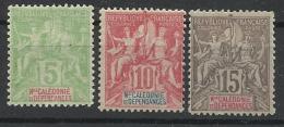 Colonies Nouvelle Calédonie N° 59 60 61 Neuf Avec Charnière - Nouvelle-Calédonie