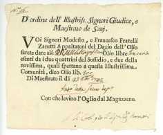 SAVI Italie 1742 - Document - Historische Dokumente