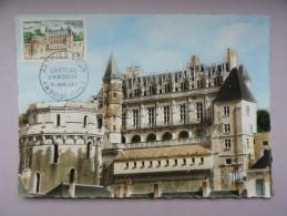 CARTE MAXIMUM CARD VAL DE LOIRE AMBOISE INDRE-ET-LOIRE TOUR DES MINIMES ET LE LOGIS DU ROI, DU CHATEAU - 1960-69