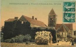 -ref M469- Allier - Saint Germain De Salle - St Germain De Salles - Prieure - Prieures - Carte Toilee Colorisee - France