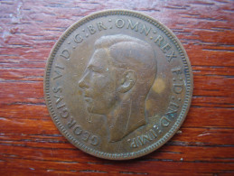 Great Britain 1945 GEORGE VI  ONE PENNY  USED FAIR CONDITION.(HG37) - 1902-1971 : Post-Victorian Coins