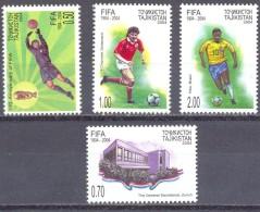 2004. Tajikistan, 100y Of FIFA,  4v Perforated, Mint/** - Tadschikistan