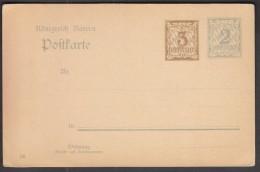 Germany Bavaria 1906 / Postal Stationery 3 + 2 Pfennig - Bavière