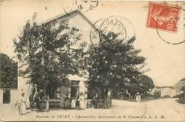 -ref M462- Allier - Charmeilles - Environs De Vichy - Restaurant De La Chaumiere - Restaurants - Carte Bon Etat - - France