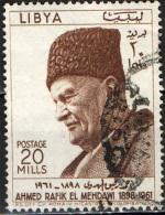 LIBIA - 1962 - AHMED RAFIK EL MEHDAWI (1889-1961) - POETA - USATO - Libya