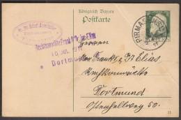 Germany Bavaria Bayern Pirmasens 1911 / Postal Stationery / 5 Pfennig - Bavière