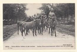 Militaria Guerre 1914 Sous Officiers Indiens Et Ses Mulets - Guerre 1914-18