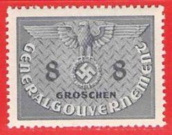MiNr.2 Xx  Deutschland Besetzungsausgaben II. Weltkrieg Generalgouvernement Dienstmarken - Besetzungen 1938-45