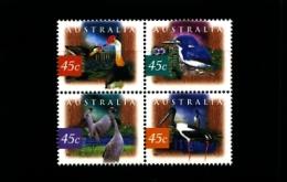 AUSTRALIA - 1997  BIRDS  BLOCK  MINT NH - Nuovi