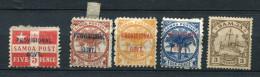Germany Samoa 1899 And Up Accumulation Some Oveprint  Mint/MH - Colony: Samoa