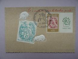CARTE MAXIMUM CARD TYPE MOUCHON SUR CPA RARE - 1960-69