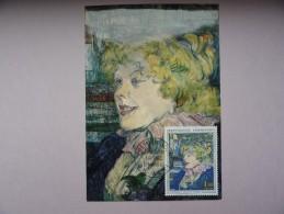 """CARTE MAXIMUM CARD TOULOUSE-LAUTREC L'ANGLAISE DU """"STAR"""" DU HAVRE - 1960-69"""