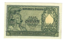 50 LIRE ITALIA ELMATA SPL  LOTTO 1414 - [ 2] 1946-… : République