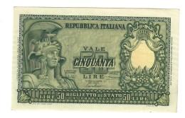 50 LIRE ITALIA ELMATA SPL  LOTTO 1414 - [ 2] 1946-… : Républic