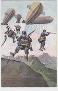 Schweiz. Gebirgstruppen Im Zeppelinangriff - Interessanter Stempel - 1914     (P5-10401) - Matériel