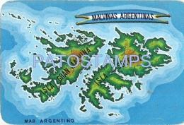 59022 ARGENTINA CORDOBA & ISLAS MALVINAS PUBLICITY CRECOR PRODUCTOS LOCTEOS & CALENDARIO 1984 NO POSTAL TYPE POSTCARD - Werbepostkarten